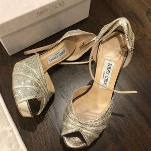 Jimmy choo champagne heels 6.5